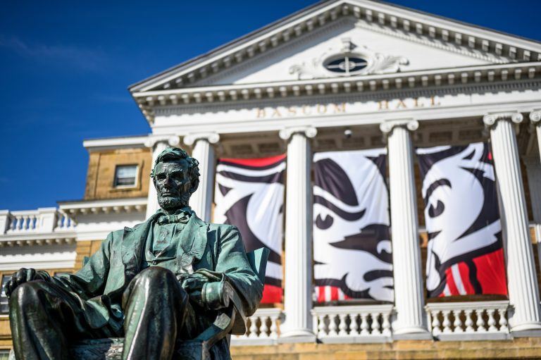 Lincoln statue in front of Bascom Hall