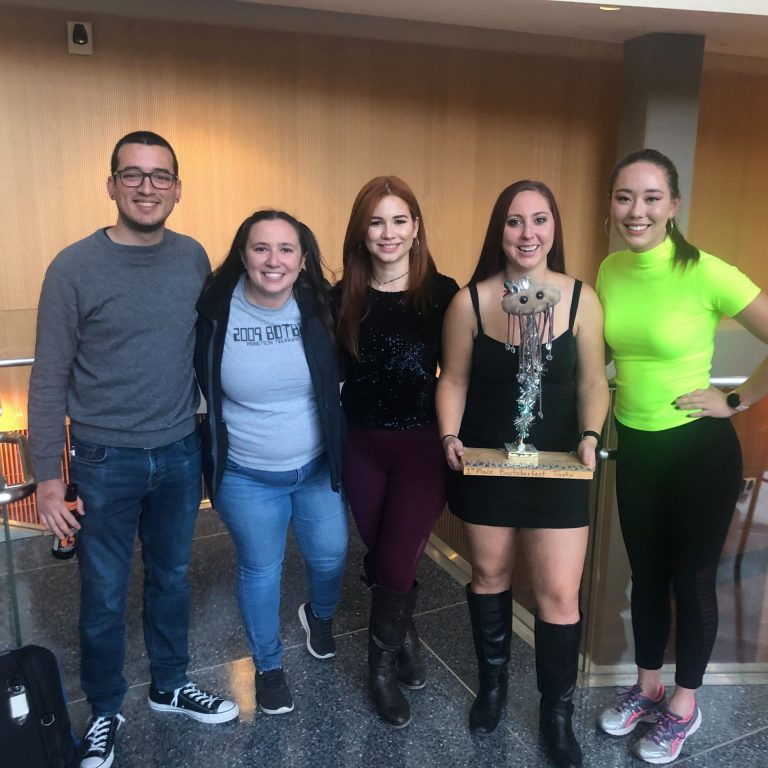"Mandel lab at Bactoberfest 2019. Our ""90s Mix Tape"" skit helped us win the coveted 1st place trophy!"